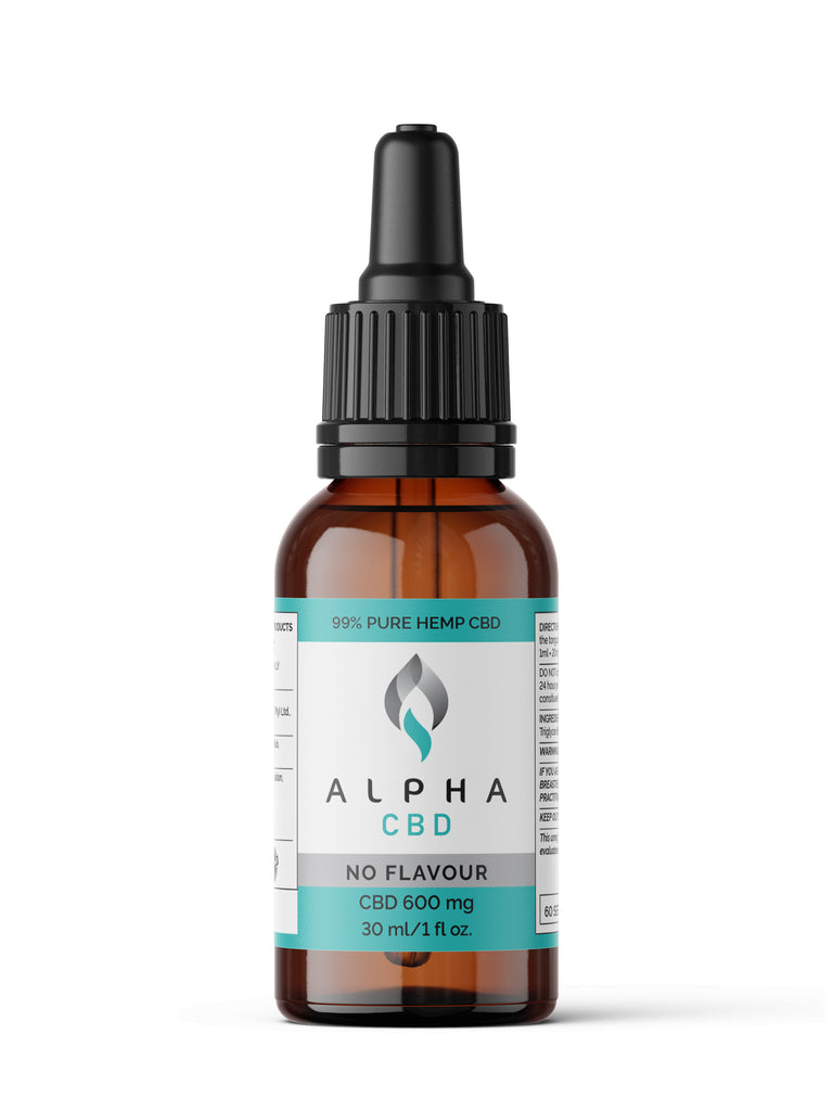 Alpha CBD - 30ml 600mg CBD (Unflavoured)