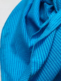 The Cerulean Striped Silk & Cotton Rag