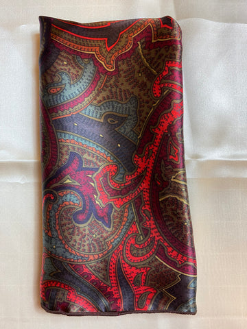 The Desperado Paisley Silk Pocket Square