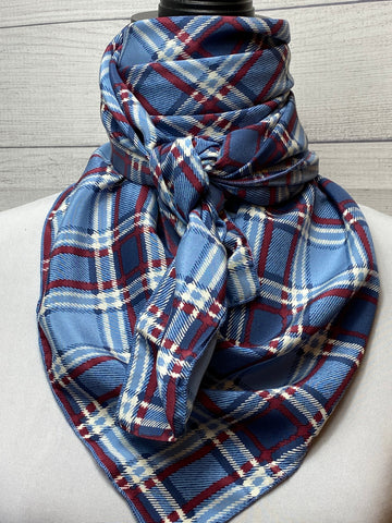 The Brooks Plaid Silk Rag