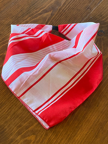 Red Striped Cotton Kerchief