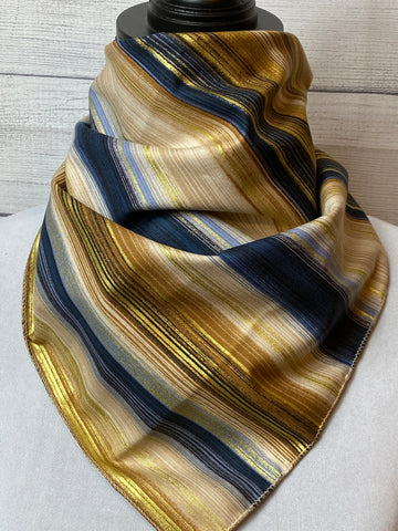 Golden Striped Cotton Neckerchief