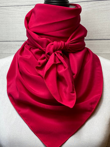 Solid Magenta Silk Large Rag