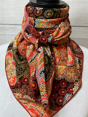 The Autumn Paisley Silk Large Rag