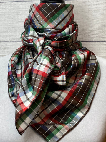 The Odell Plaid Silk & Cotton Rag
