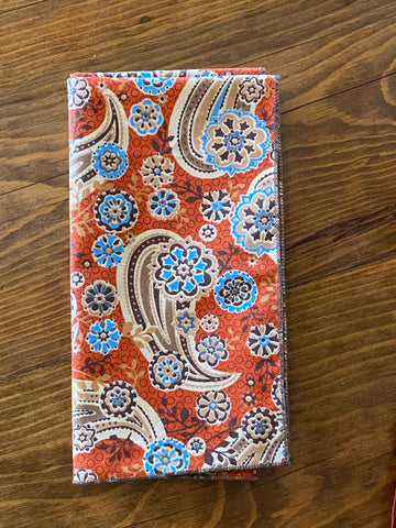 The Tinsley Paisley Cotton Pocket Square