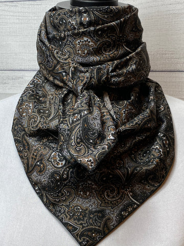 Black & Grey Paisley Cotton Rag