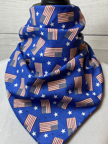 American Flag Cotton Neckerchief
