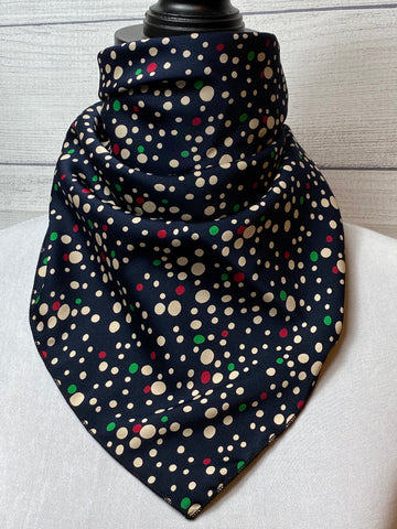 The Mixed Polka Dot Silk Neckerchief