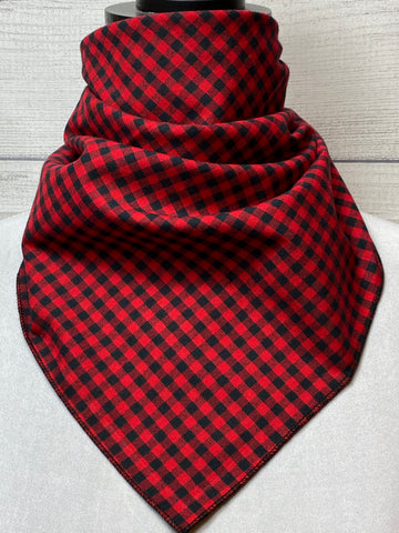 Red Buffalo Check Cotton Neckerchief