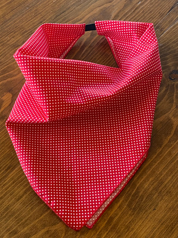 Red Polka Dot Cotton Kerchief