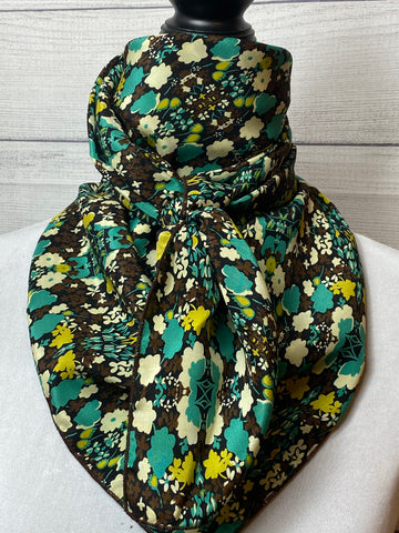 The Cleo Floral Silk Large Rag