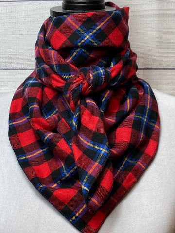 Red Plaid Cotton Flannel Rag