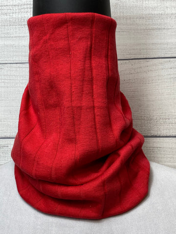 *Sale* Solid Red Cotton Neck Gaiter
