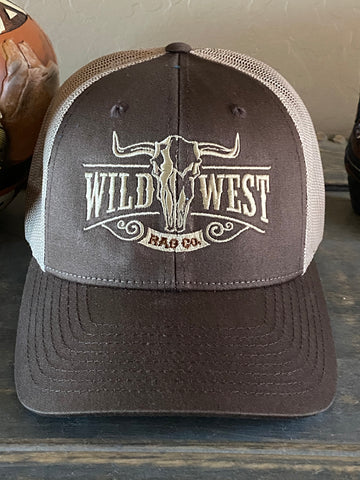 Wild West Brown & Tan Trucker Cap