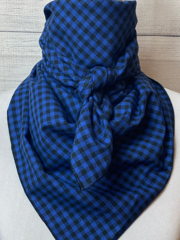 Blue Buffalo Check Cotton Rag