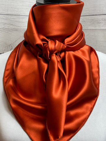 Solid Rust Silk Rag