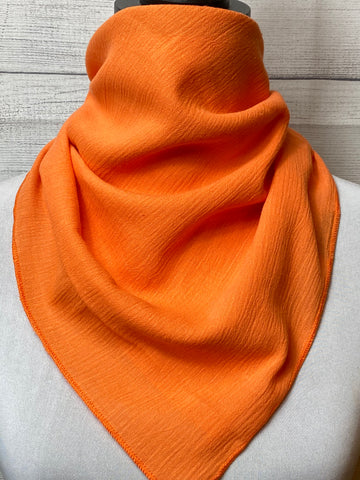 Solid Orange Cotton Gauze Neckerchief