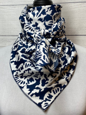 The Navy Ikat Cotton Rag
