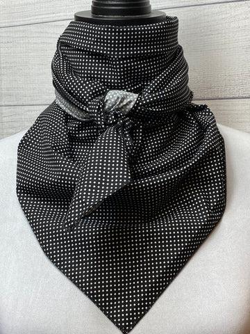 Black Mini Polka Dot Cotton Rag