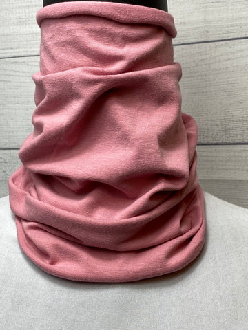 *Sale* Solid Pink Cotton Neck Gaiter