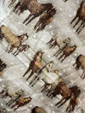 The Winter Herd Cotton Flannel Bandana