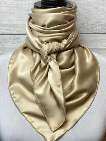 Solid Khaki Sandwashed Silk Large Rag