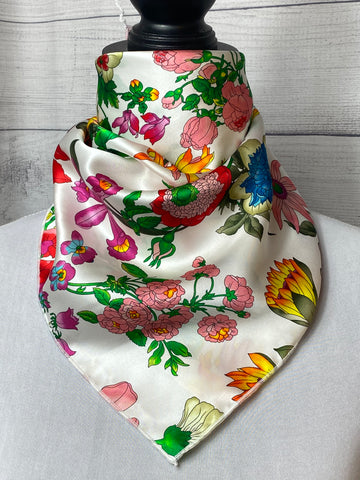 The Wildflower Silk Neckerchief