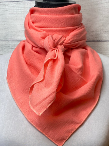 Solid Bright Coral Cotton Gauze Rag