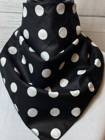 Black Polka Dot Cotton Neckerchief