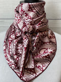 *Limited Edition* The Garnet Paisley Silk Large Rag