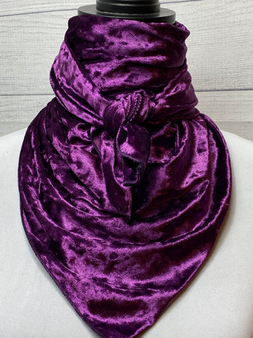 Solid Purple Velvet Silk Blend Rag