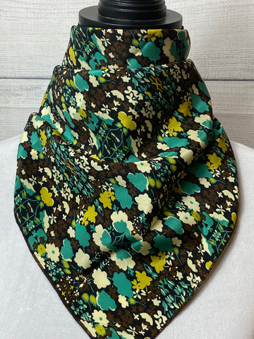 The Cleo Floral Silk Neckerchief