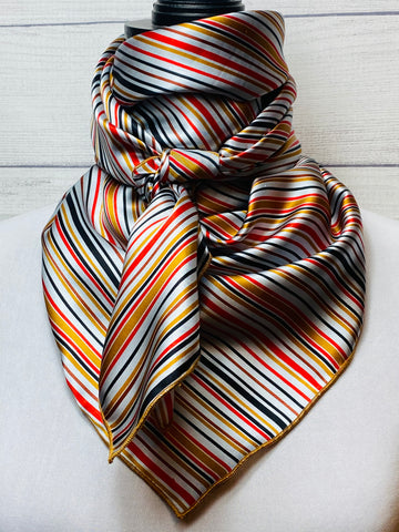 The Boone Striped Silk Large Rag