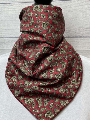 Merlot Paisley Cotton Neckerchief