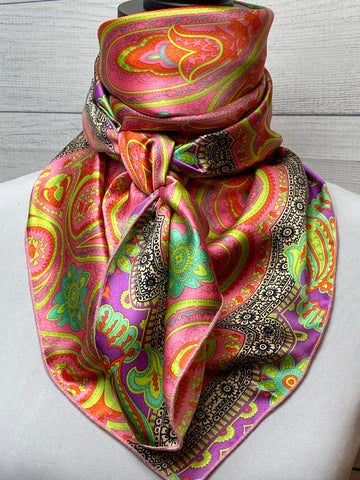 The Amaranth Paisley Silk Rag