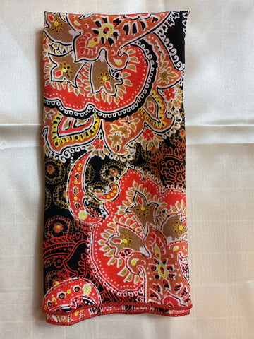 The Autumn Paisley Silk Pocket Square