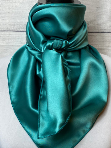 Solid Turquoise Silk Rag