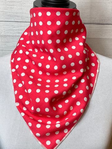 Watermelon Polka Dot Silk Blend Neckerchief