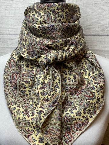 The Warm Paisley 100% Wool Challis Rag