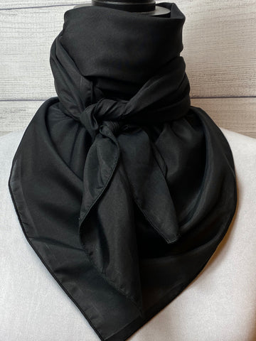 Solid Black Silk & Cotton Rag