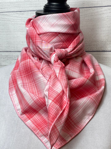 Pink Plaid Cotton Voile Rag