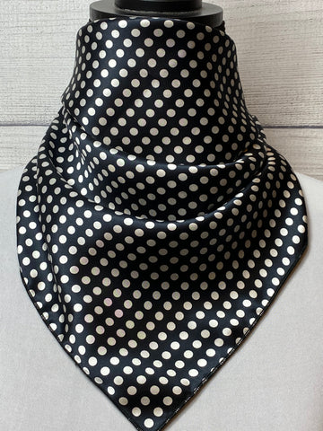 The Black Polka Dot Silk Neckerchief