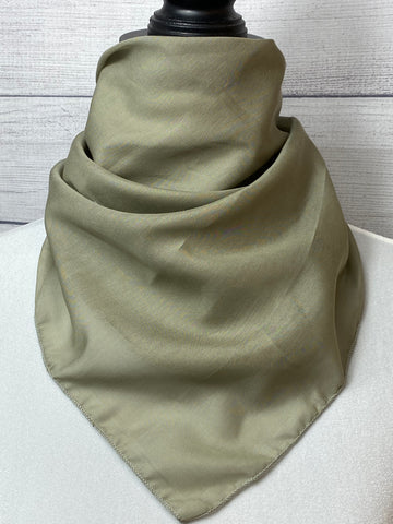 Solid Sage Silk & Cotton Neckerchief