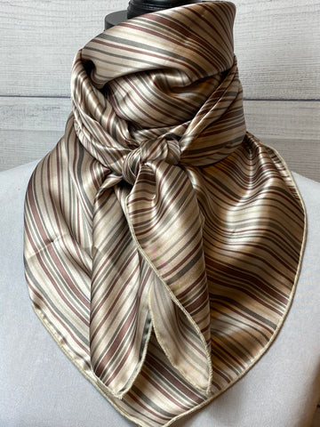 The Sutton Striped Silk Large Rag