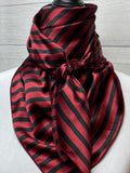 The Maroon Striped Silk Large Rag