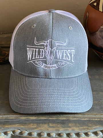 Wild West Grey & White Trucker Cap
