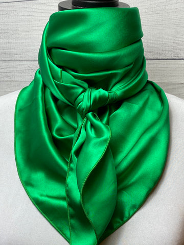Solid Green Silk Rag