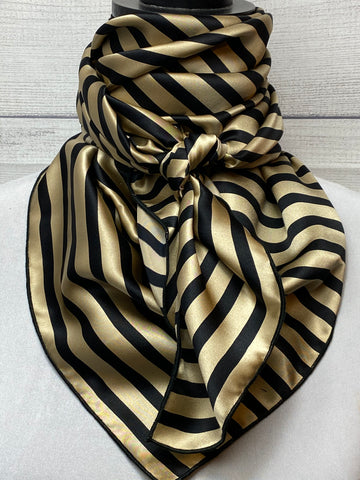 The Marshal Striped Silk Large Rag