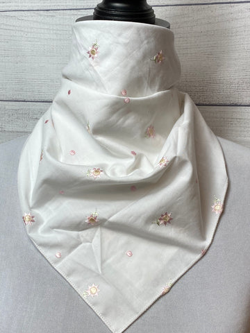 The Embroidered Cotton Bandana